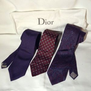 DIOR - 3 silk ties